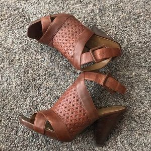 Franco Sarto Brown wedged Sandals